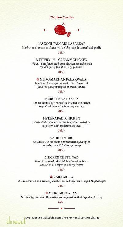 Zaheer Khan's Dine Fine Menu 6
