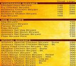 Hyderabadi Spice Menu