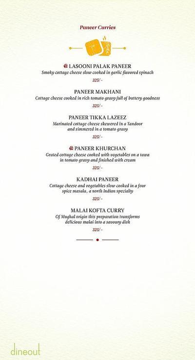 Zaheer Khan's Dine Fine Menu 5