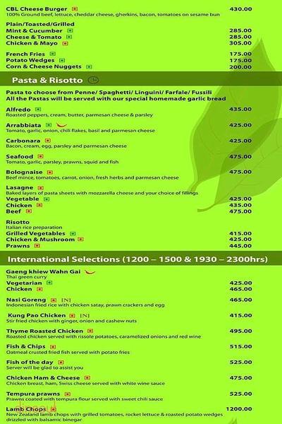 Cafe Bay Leaf Menu 1