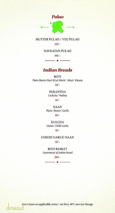 Zaheer Khan's Dine Fine Menu 10