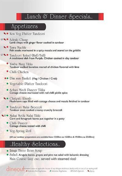 Level 2 - Radisson Blu Hotel Paschim Vihar Menu 1
