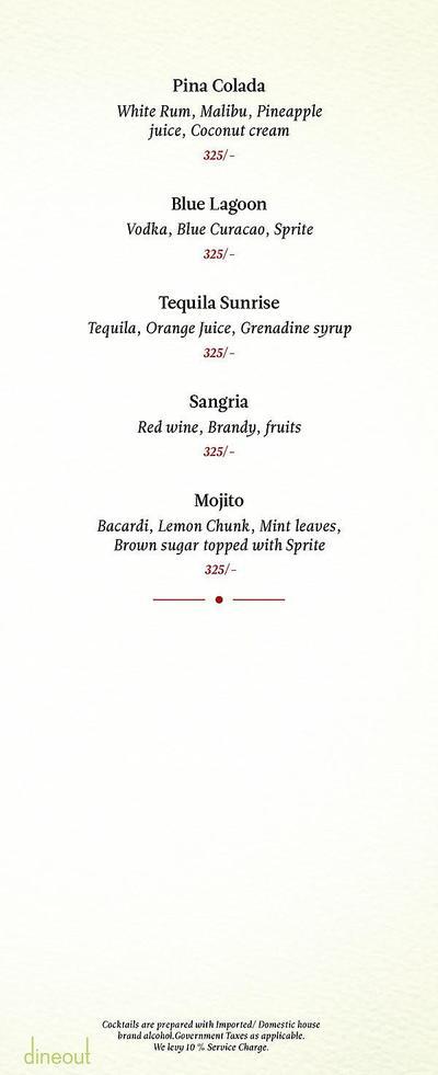 Zaheer Khan's Dine Fine Menu 28