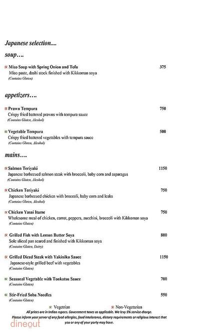 Mosaic - Crowne Plaza Menu 5