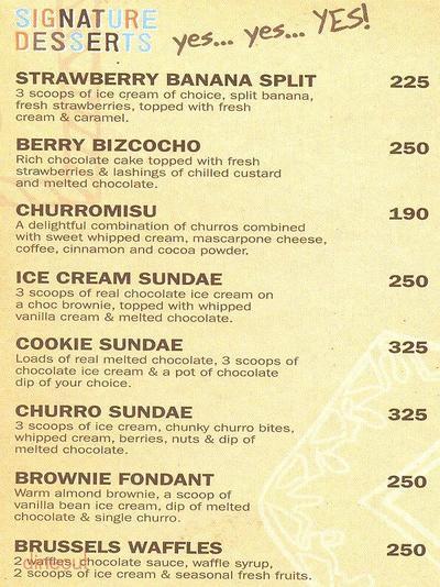 Chocolateria San Churro Menu 4