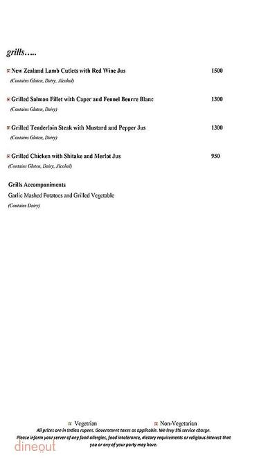 Mosaic - Crowne Plaza Menu 4