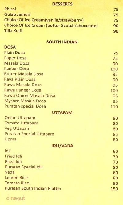 Puratan Family Restaurant & Bar Menu 2