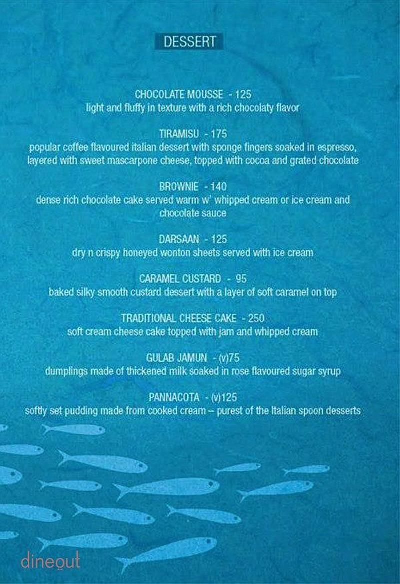 Menu Of Ocean Grill Salt Lake Kolkata Dineout Discovery