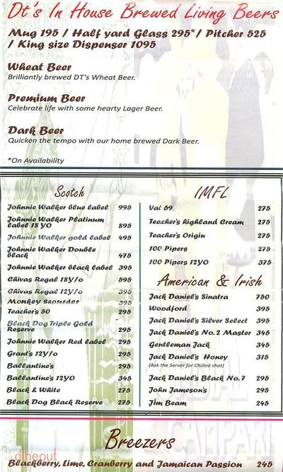Downtown - Diners & Living Beer Cafe Menu 14