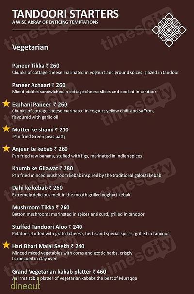 Muraqqa - The Indian Restaurant Menu 1