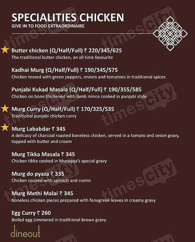 Muraqqa - The Indian Restaurant Menu 4