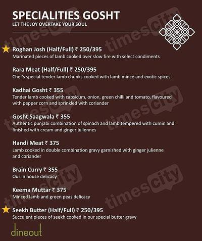 Muraqqa - The Indian Restaurant Menu 5