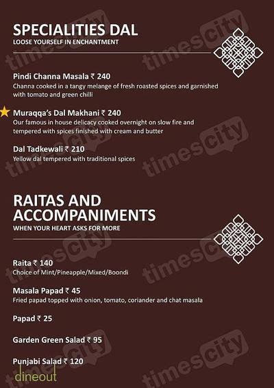 Muraqqa - The Indian Restaurant Menu 9